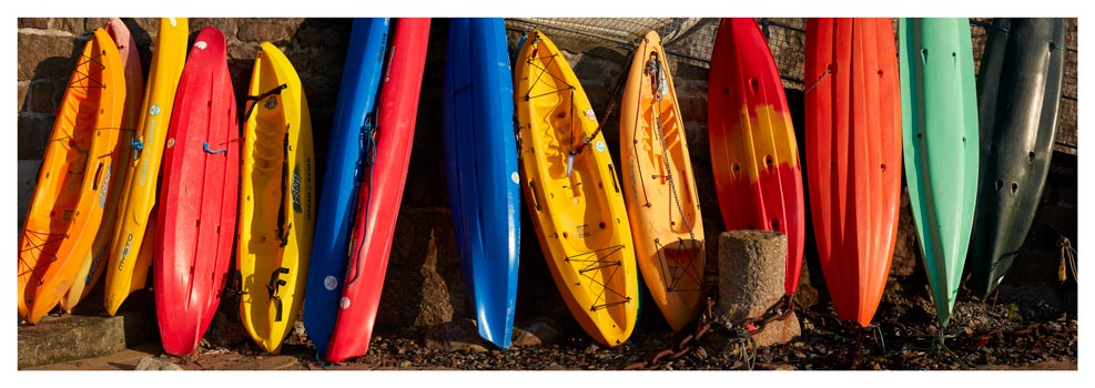 Colourful Kayaks at Mousehole - Prints of Cornwall