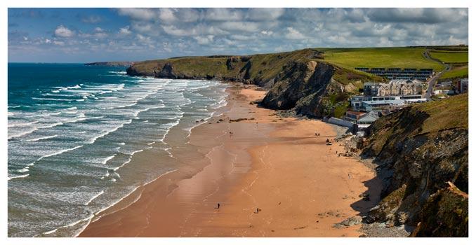 Watergate Bay Beach - Cornwall Print