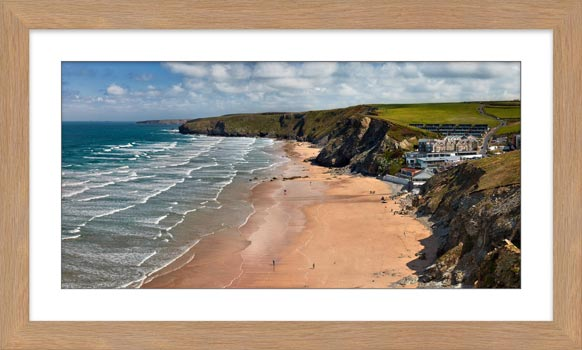 Watergate Bay Beach - Framed Print with Mount
