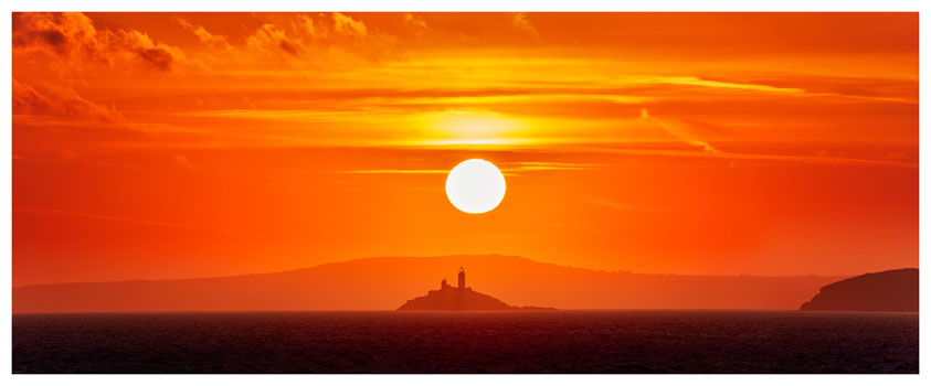 Godrevy Lighthouse Sunrise - Cornwall Print