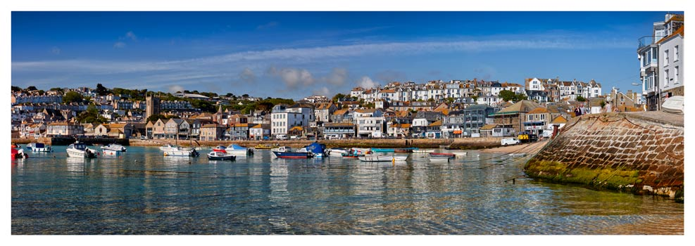 St Ives Harbour and Wharf Road - Prints of Cornwall