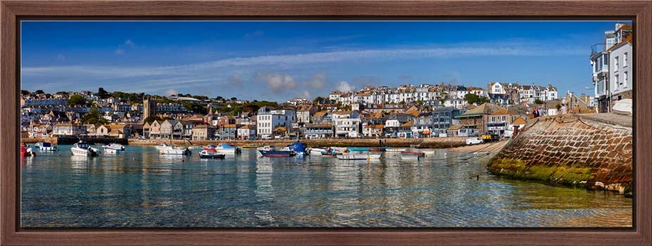 St Ives Harbour and Wharf Road - Modern Print