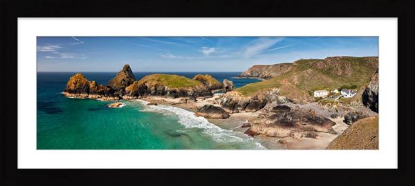Kynance Cove and Cafe - Framed Print with Mount