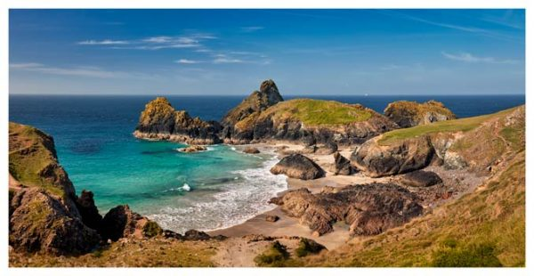 Kynance Cove Tropical Waters - Cornwall Print