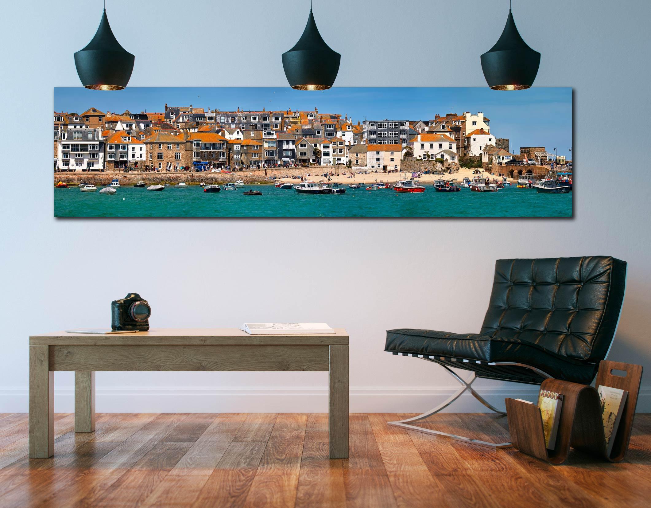 Wharf Road and Downalong - Print Aluminium Backing With Acrylic Glazing on Wall
