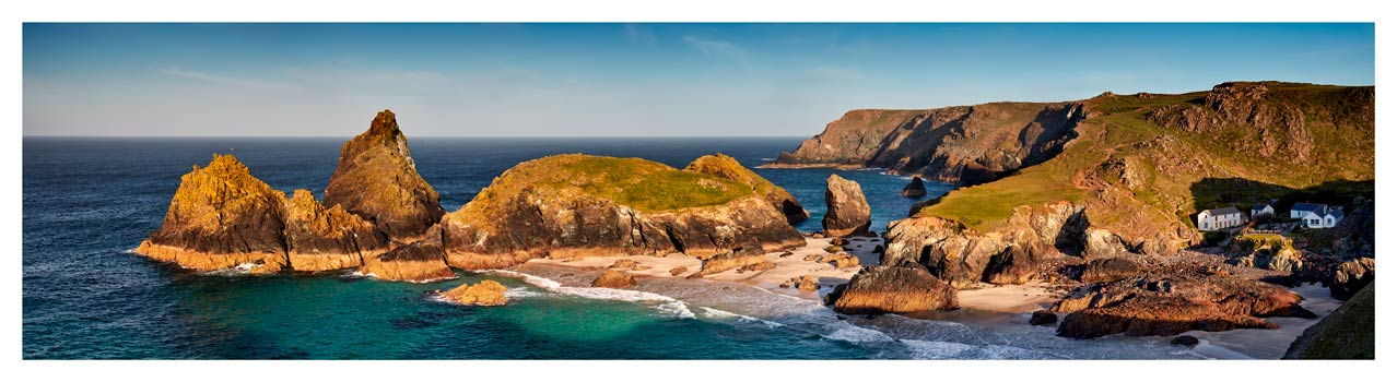 Kynance Cove Morning Sunlight - Cornwall Print