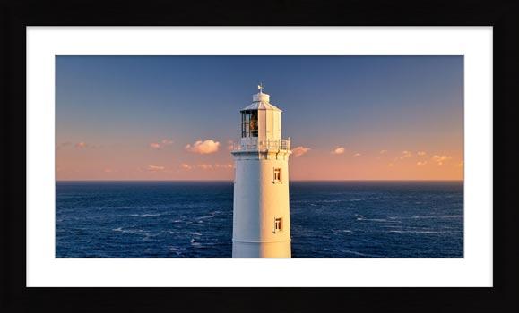 Trevose Head Lighthouse - Framed Print with Mount