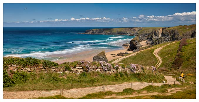 Path To Bedruthan Steps - Cornwall Print