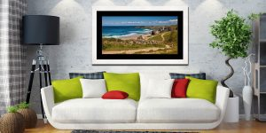 Path To Bedruthan Steps - Framed Print with Mount on Wall