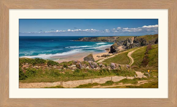 Path To Bedruthan Steps - Framed Print with Mount