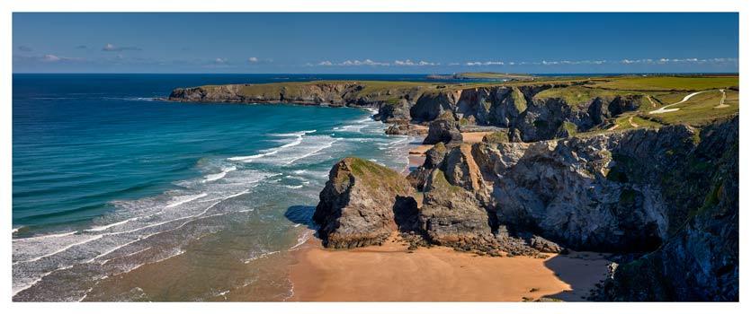 Cliffs and Stacks at Bedruthan - Cornwall Print