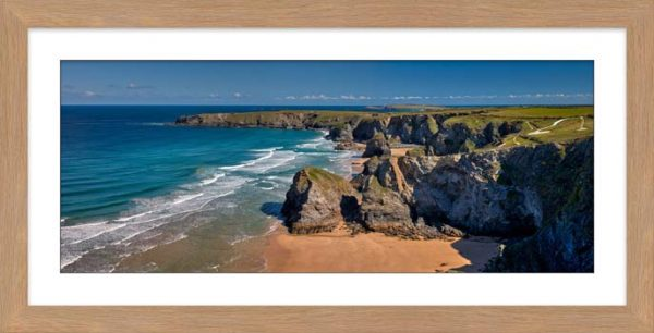 Cliffs and Stacks at Bedruthan - Framed Print with Mount