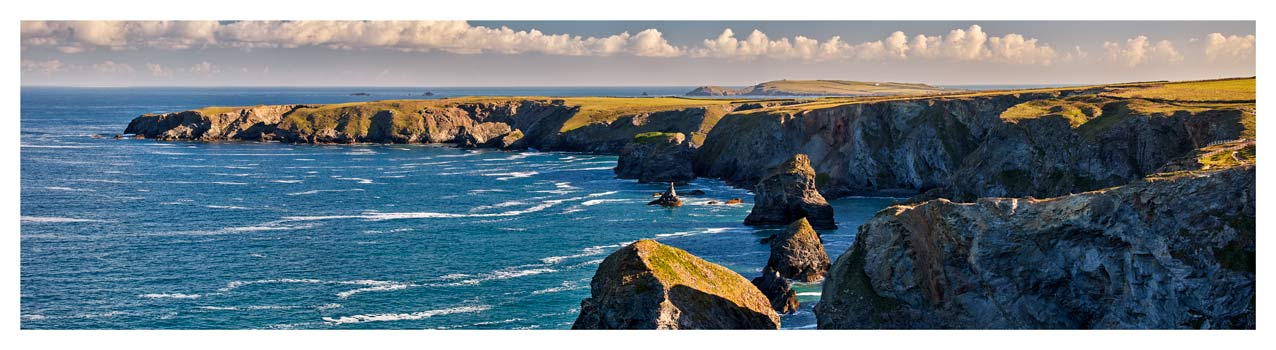 Bedruthan Steps Headland - Cornwall Print