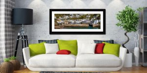 Polperro Harbour Wall - Framed Print with Mount on Wall
