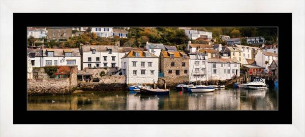 Harbour Cottages Polperro - Framed Print with Mount