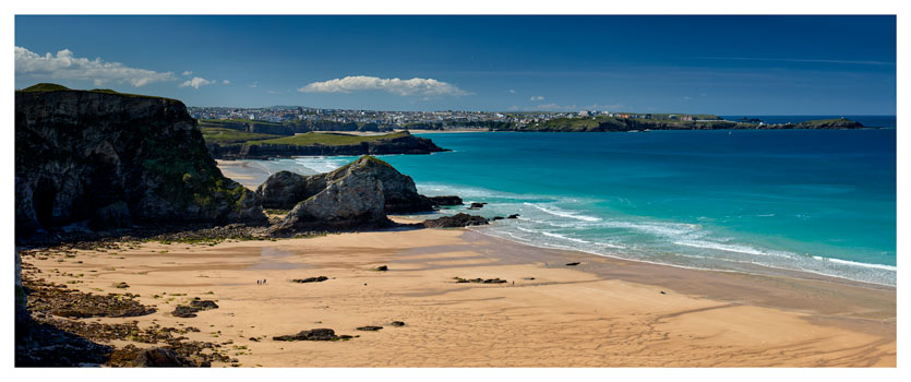 Porth Beach and Newquay - Cornwall Print
