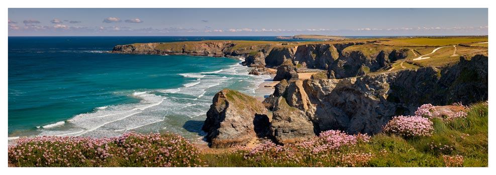 Spring Sunshine Bedruthan Steps - Prints of Cornwall