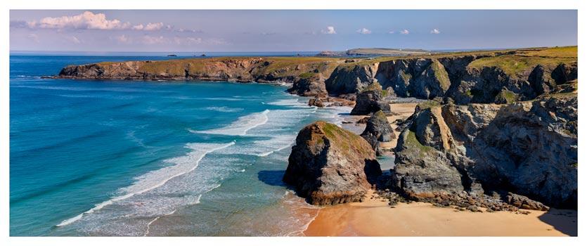 Bedruthan Rock Stacks Mega Pano - Cornwall Print