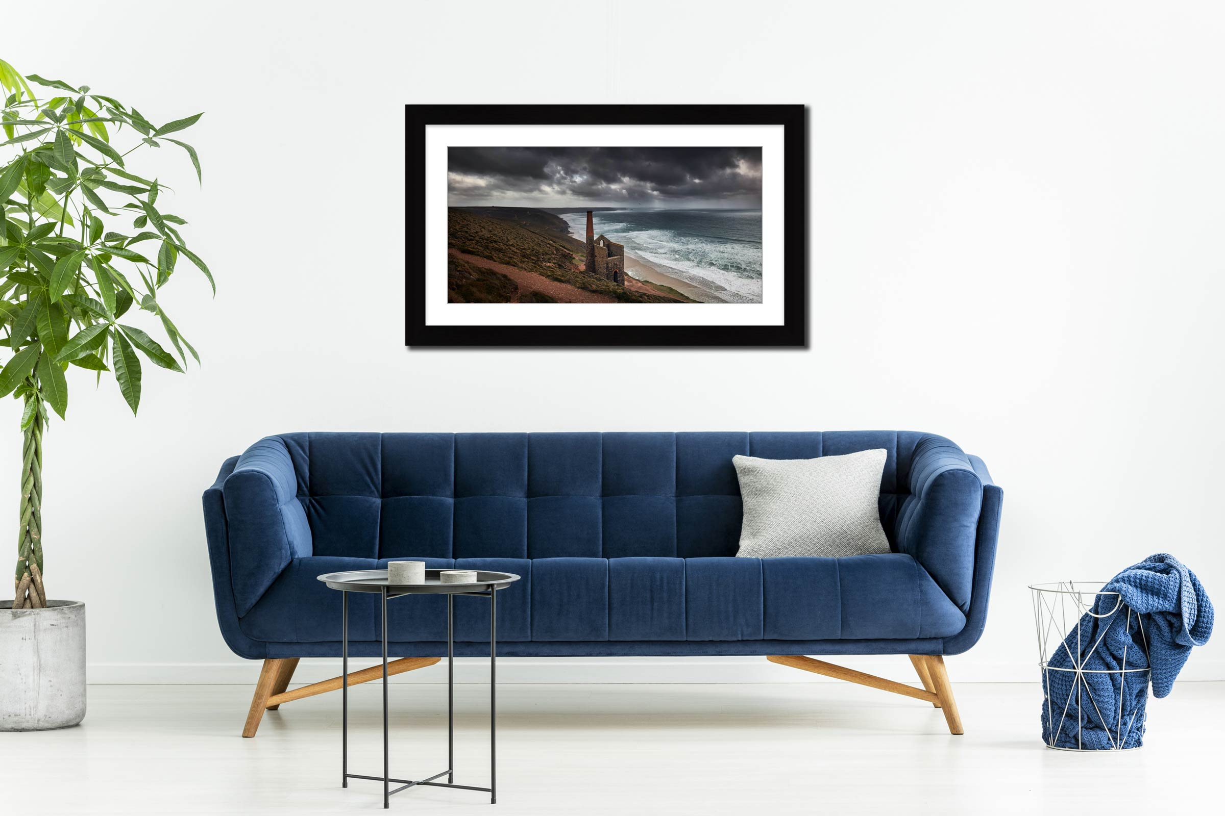 Wheal Coates Mine Ruin - Framed Print with Mount on Wall