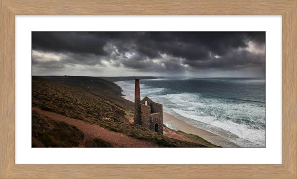 Wheal Coates Mine Ruin - Framed Print with Mount