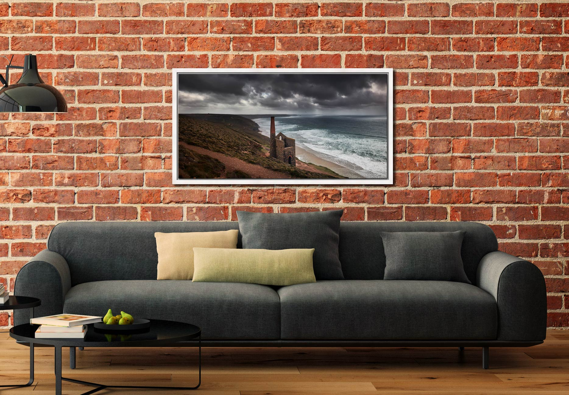 Wheal Coates Mine Ruin - White Maple floater frame with acrylic glazing on Wall