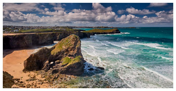 Black Humprey Rock - Cornwall Print
