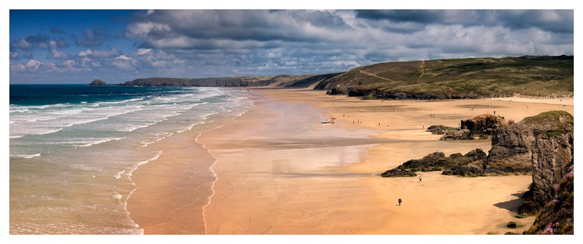 Perranporth Beach - Cornwall Print