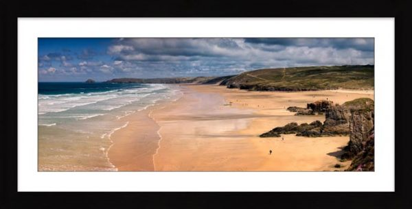 Perranporth Beach - Framed Print with Mount