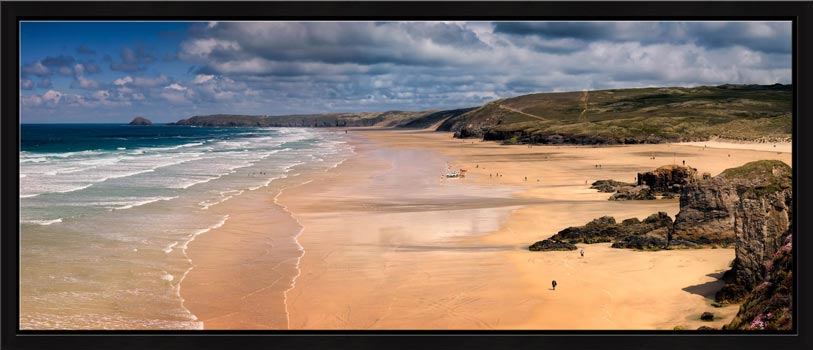 The golden sands of Perranporth Beach