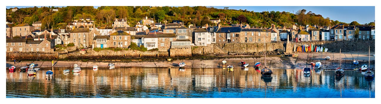 Mousehole Harbour Panorama - Cornwall Print
