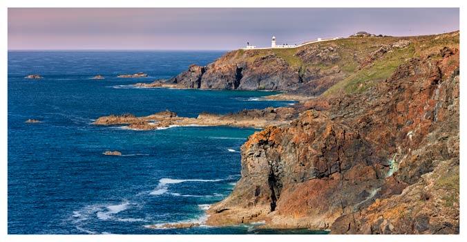 Pendeen Lighthouse Cliffs - Cornwall Print