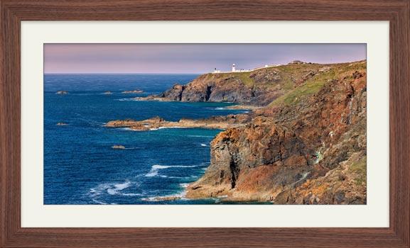 Pendeen Lighthouse Cliffs - Framed Print with Mount